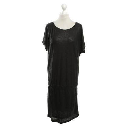 Other Designer IHeart - linen dress in black / metallic