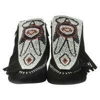 Giuseppe Zanotti Black Suede leather boots