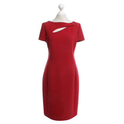 Christian Dior Schede jurk in rood