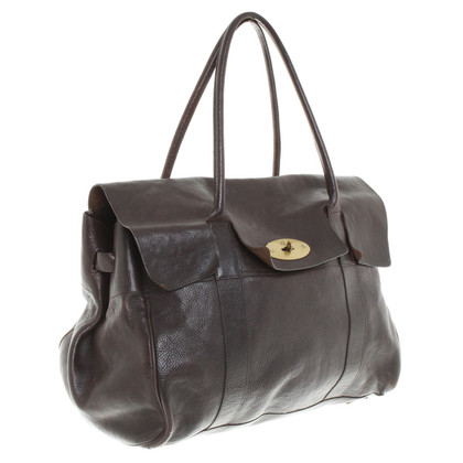 "Mulberry Handtas ""Piccadilly"" in donkerbruin"