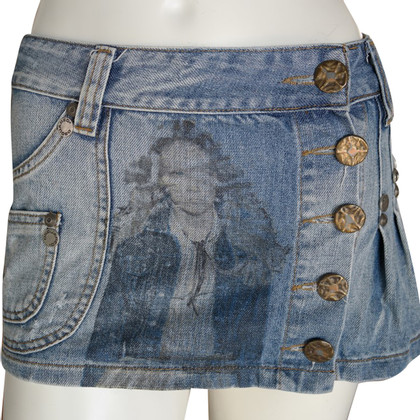 Dsquared2 Gonna in denim mini