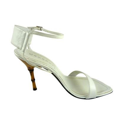 Casadei White sandalen gemaakt van leer