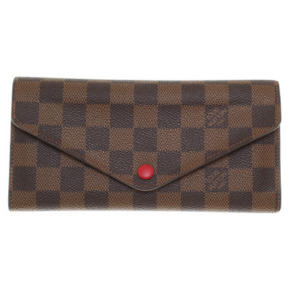 Louis Vuitton Porte-monnaie de Damier Ebene Canvas