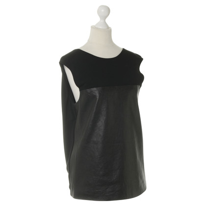 Alexander Wang top leather front