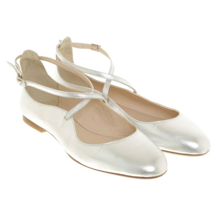 L.K. Bennett Silver-colored ballerinas