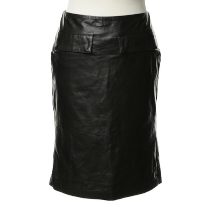 Belstaff Leather skirt in black
