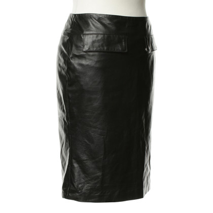 Belstaff Gonna in pelle nero
