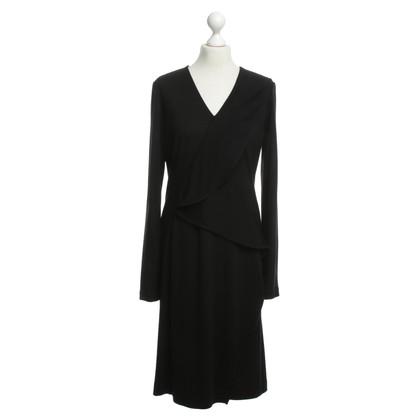Salvatore Ferragamo Wollen jurk in zwart