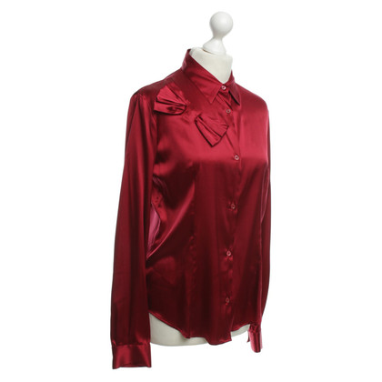 Moschino Satin blouse with grinding detail