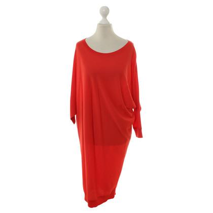 Alexander McQueen Maglia abito in rosso