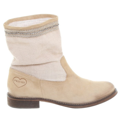 Twin-Set Simona Barbieri Stiefeletten aus Materialmix