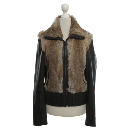 Arma Leather jacket with fur