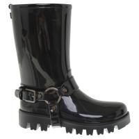 Dolce & Gabbana Bottes en caoutchouc en noir