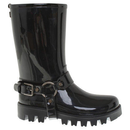 Dolce & Gabbana Rubber boots in black