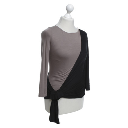 Paule Ka Top in zwart / taupe