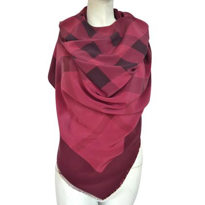 Burberry Prorsum Silk scarf with nova check pattern