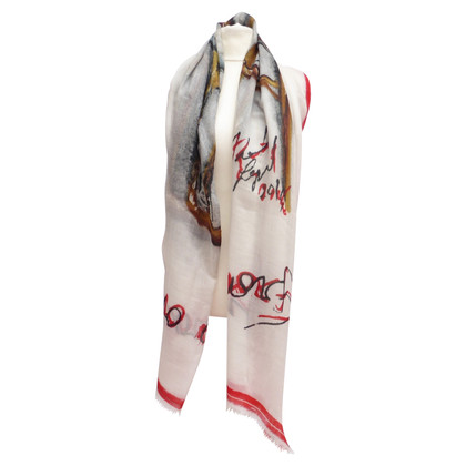 Chanel Cashmere scarf with print