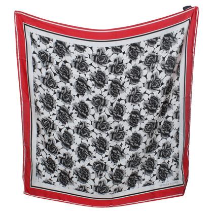 Escada Zijden sjaal met bloemenprint