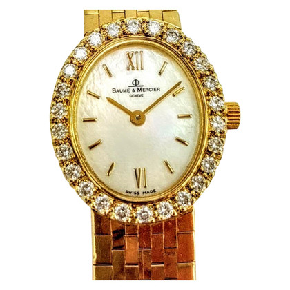"Baume & Mercier Clock ""14K Gold 26 VS 1 Fullriver Diamonds"""