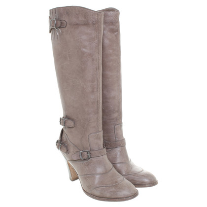 Belstaff Leather boots in grey