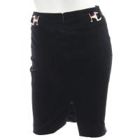 Gucci Black velvet skirt