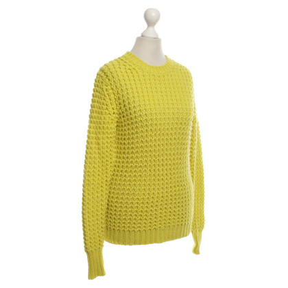 Acne Strickpullover in Neongelb