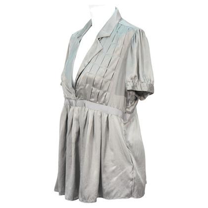 DKNY Grey silk blouse