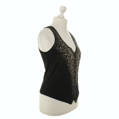 Marc Cain Sequin vest in black