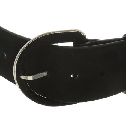 Ralph Lauren Black Label Cintura in pelle scamosciata in nero