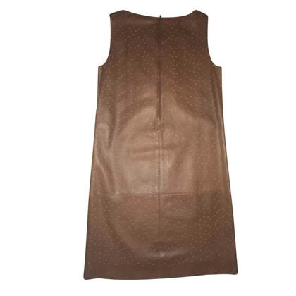 Fendi Leren jurk in bruin