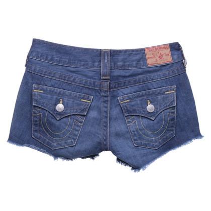 True Religion Denim shorts in used look