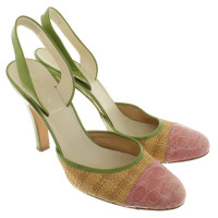 Prada Slingbacks con mix di materiali