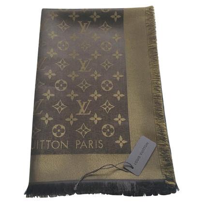 Louis Vuitton Brown Monogram Shawl and Gold Shine
