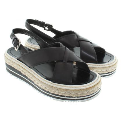 Prada Black plateau sandals
