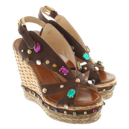 Dolce & Gabbana Wedges in brown