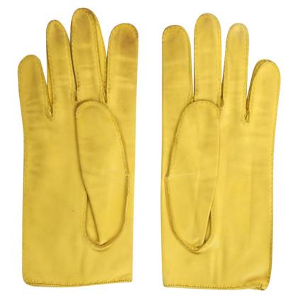 Hermès Lederhandschuhe in Gelb