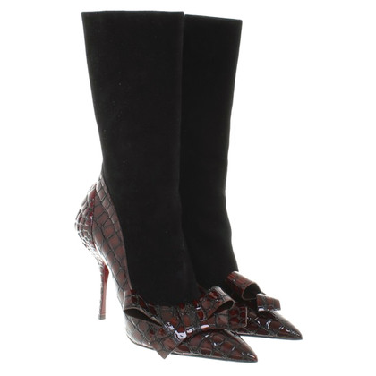 Miu Miu Ankle boots with reptile embossing