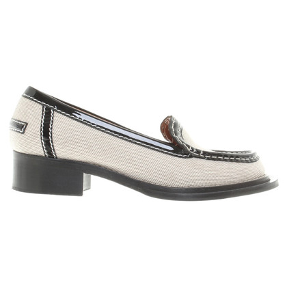 Acne Slipper in zwart / White