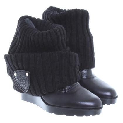 Gucci Overknee-Stiefel mit Strickschaft
