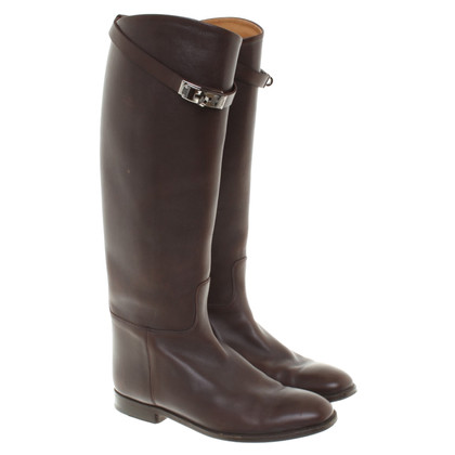 Hermès Leather Boots in Brown