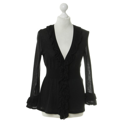 Red Valentino Ruffle jacket in black