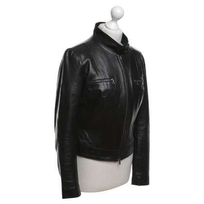 Vent Couvert Leather jacket in black