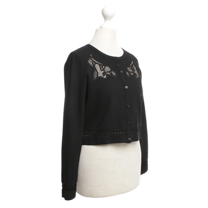 Sandro Bolero jacket in black