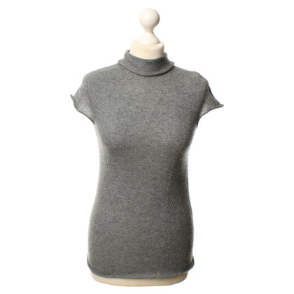 Malo Short-sleeved sweater in grey