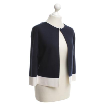 Hemisphere Short jacket in blue / white