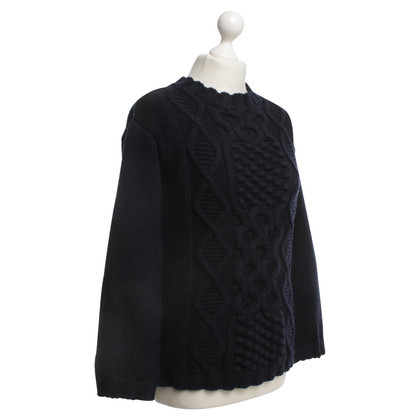 Moncler Knit sweater in dark blue