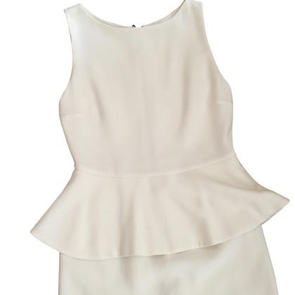 Alice + Olivia Witte peplos jurk