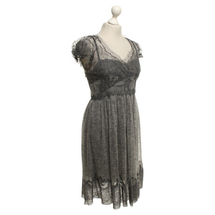 Ermanno Scervino Wool dress in grey with lace