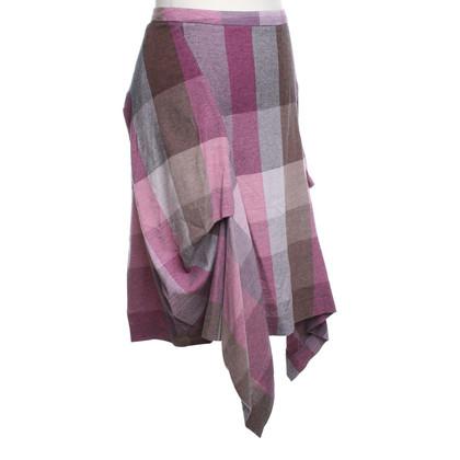 Alexander McQueen skirt with check pattern