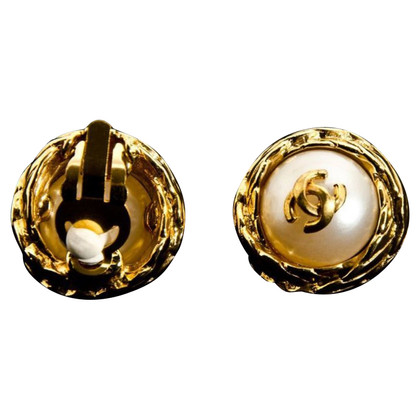 "Chanel Vintage ""Logo Mania"" ear clips"